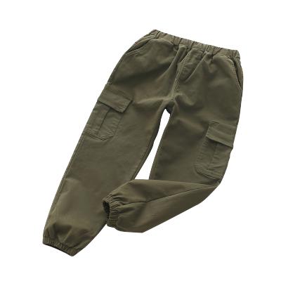 2019秋季新品中大童水洗工装长裤双侧大口袋休闲儿童裤