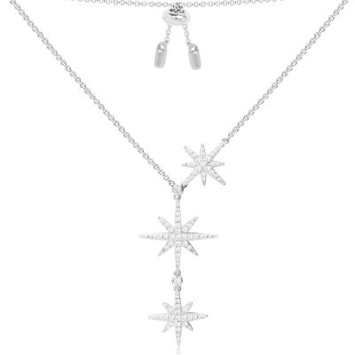 apm MONACO 女士 欧美风格 925银 个性 大小星星项链银色 AC3350OX