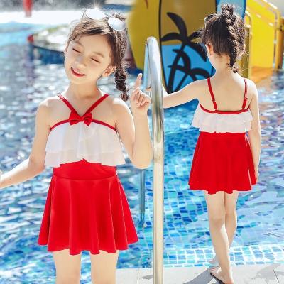 兒童泳衣女套裝佑游女童游泳衣小中大童寶寶連體公主裙式泳裝