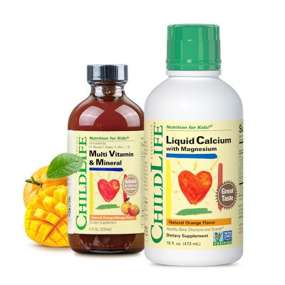 美國童年時光 鈣鎂鋅 多維鋅(473ML+237ML) 瓶裝 6個月以上