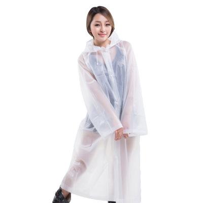 成人長款雨衣EVA環保材質加厚雨衣行走戶外旅游登山非一次性連體透明雨衣電動自行車騎行雨披防護雨衣時尚