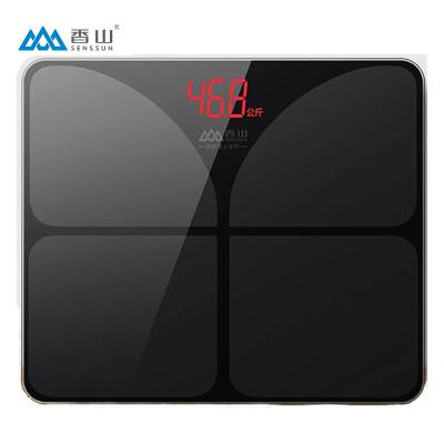 香山 電子稱EB836 家用精準人體秤體重秤 準智能健康減肥脂(炫酷黑)