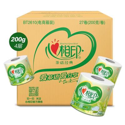 心相印 卷纸 茶语系列 4层200克*27卷(整箱销售) 卷筒卫生纸巾