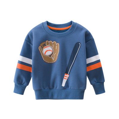 27Kids 兒童衛衣童裝秋冬新款韓版簡約加絨運動休閑男童長袖套頭衫