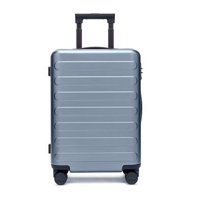 90分商旅兩用旅行箱靜音萬向輪商務登機行李箱子 男女密碼拉桿箱 湖光藍 20寸