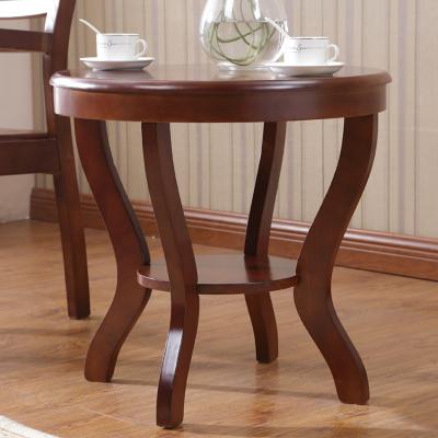檀星星實木小茶幾簡約圓形沙發邊幾北歐小戶型角幾陽臺60cm中式小圓桌