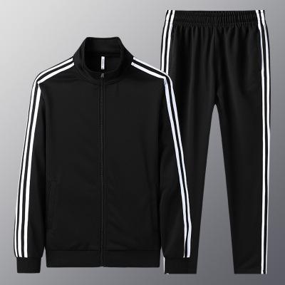 跨洋(KUAYANG)2020新款秋季男士運動套裝休閑男士連帽開衫兩件套運動套裝F