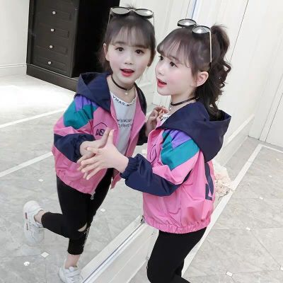 女童外套2019新款韓版兒童洋氣網紅春裝小女孩時髦春秋潮童裝大童