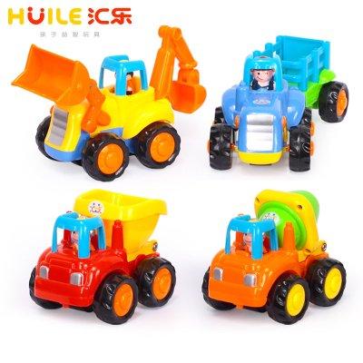 匯樂玩具(HUILE TOYS)快樂工程隊 326 兒童慣性滑行小汽車/寶寶玩具車模型 男孩套裝/2歲