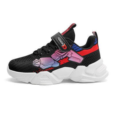 酷嘎(COGA)童鞋男童運動鞋2020年秋季新款兒童網鞋透氣網面男孩鞋中大童