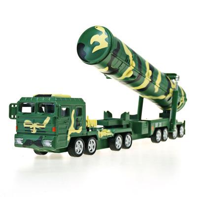 凱迪威 軍事模型 1:64 DF31A洲際彈道導彈模型發射車東風31火箭炮(回力可發射)