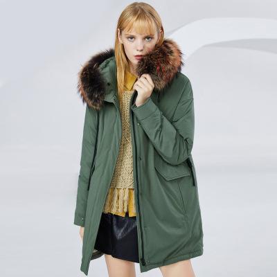 BOSIDENG брэндийн өвлийн эмэгтэй зузаан куртка B80141130 175/96A ногоон4201