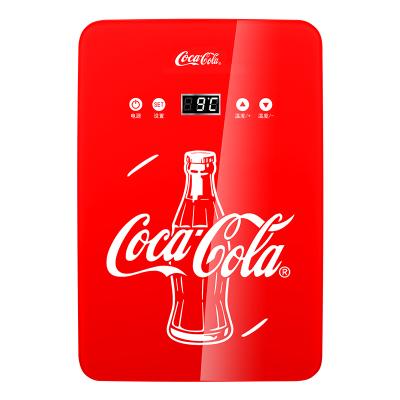 可口可乐(Coca-Cola)6升可调温 车载冰箱 车家两用 便携小冰箱迷你宿舍小冰箱12V /220V 冷暖箱