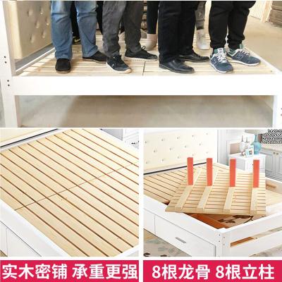 尋木匠簡易軟靠實木床1.8現代簡約雙人床1.5米1.2m單人出租房經濟型軟包
