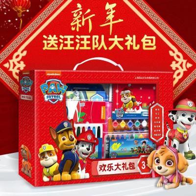 歡樂中國年汪汪隊立大功新年大禮包歡樂中過大年4-5-6-7-8周歲開心過年啦了繪本套裝幼兒兒童動畫片故事書籍男孩貼紙