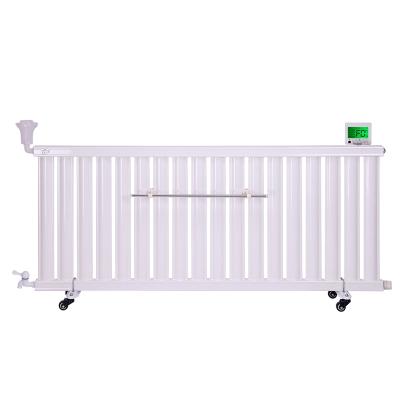 闪电客新款水电暖气片智能温控加热棒节能加注水钢制加湿散热取暖器家用 3代静音智能大屏款24柱