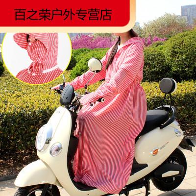 珍自由(ZHENZIYOU) 騎車衣服全身女遮臉手套長款連帽電瓶車夏季遮陽衫