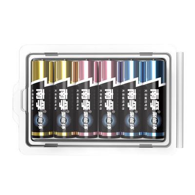 南孚(NANFU)通用5號五號堿性電池6粒 新舊不混塑扣多色裝干電池家用電源