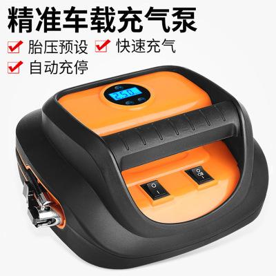 歐因充氣泵應急裝備12V車載充氣泵汽車應急工具箱智能數顯預設測胎壓輪胎打氣筒氣泵快速補氣監測胎壓燈光照明充氣泵