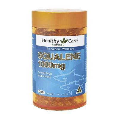 【滿額有贈】Healthy Care 角鯊烯軟膠囊 200粒/瓶 鯊魚軟骨素