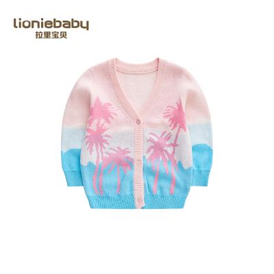 拉里寶貝Lioniebaby童裝兒童毛衣寶寶外套針織開衫2020春裝新款女童L01WS011