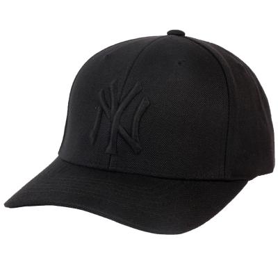 MLB2020春夏新款正品美職棒棒球帽男女NY刺繡純黑棒球帽可節嘻哈潮流街舞帽休閑運動帽