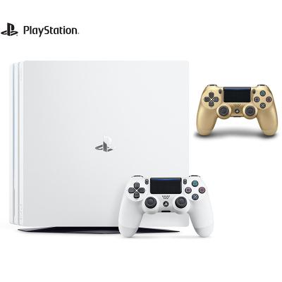【套餐】索尼(SONY)PS4 Pro 1TB國行家用游戲機白色+ PS4 Pro原裝無線游戲手柄 金色