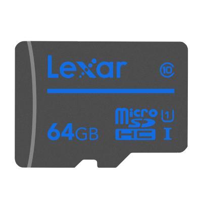 雷克沙(LEXAR) TF 存储卡MicroSD 64G 手机内存卡 平板 监控摄像头通用 行车记录仪专用 闪存卡