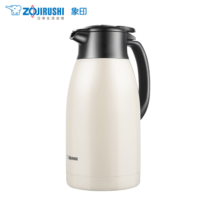 象印(ZO JIRUSHI) 不銹鋼真空保溫壺SH-HT19C大容量家用保溫瓶熱水瓶暖壺咖啡壺辦公水壺 1.9L