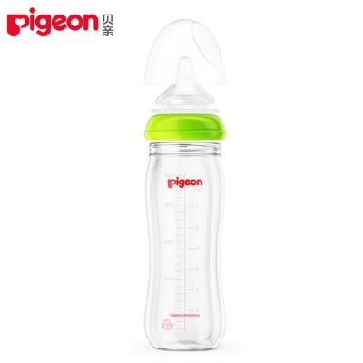 貝親(PIGEON自然實感寬口徑玻璃奶瓶240mlAA70 適用于3個月以上的寶寶