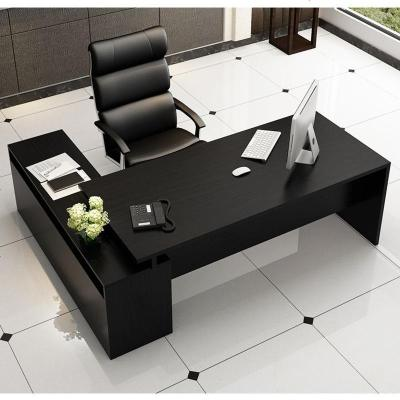 枳記家老板桌簡約現代單人辦公桌椅組合辦公家具大班臺經理桌老板辦公桌