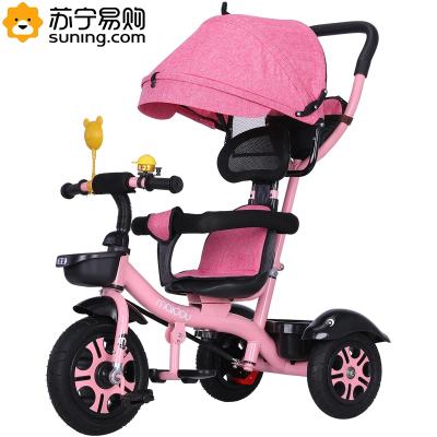 儿童三轮车脚踏车1-3-5岁大号单车宝宝手推车2-6女童车智扣脚踏三轮车自行车