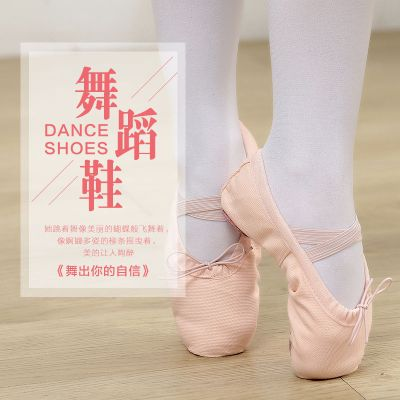 舞蹈鞋女軟底學生練功鞋成人芭蕾形體舞鞋22-45碼兒童瑜伽貓爪鞋 臻依緣