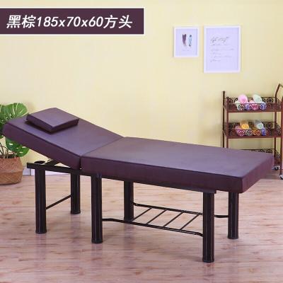 家具好货床 折叠按摩床美体床推拿床家用理疗床院纹绣火疗艾灸理疗床 黑棕185x70梯头-赠凳子 官方标配放心