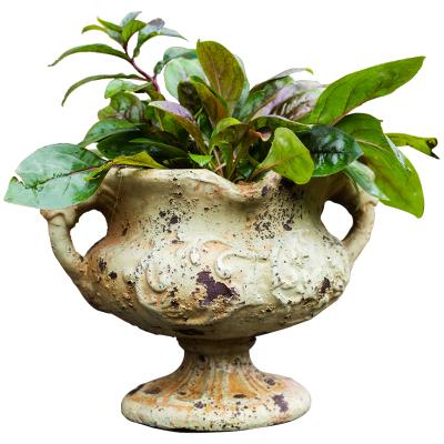 汐巖復古高腳柱盆花器特大花盆羅馬柱落地庭院裝飾法歐式花園藝術