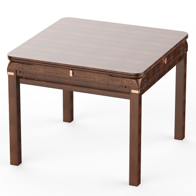 興樂全自動麻將機 仿木紋深色 黑色或全白色麻將桌 中式餐桌 配蓋板和充電