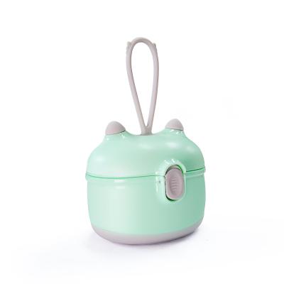盟宝婴儿奶粉盒便携外出分装大容量奶粉格密封奶粉储存盒抹茶绿