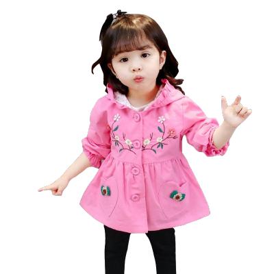 童裝2019女寶寶風衣外套1-7歲女童春秋新款韓版公主小女孩棉上衣 莎丞