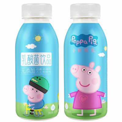 好佳一小猪佩奇乳酸菌饮品 酸奶饮料 原味330克*12瓶