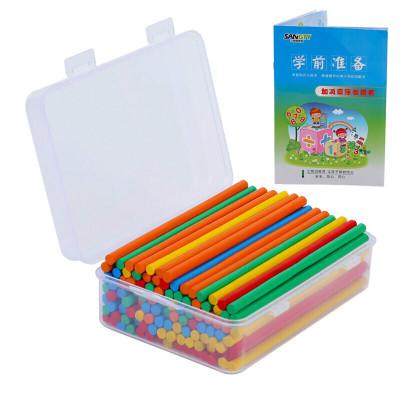 小棒 学具小学 儿童一年级数学教具计算术加减法数学棒竹木制玩具 BX