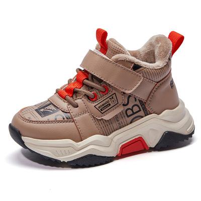BOBDOG HOUSE巴布豆童鞋冬季新款儿童运动鞋男童鞋加绒棉鞋女童鞋子B9431