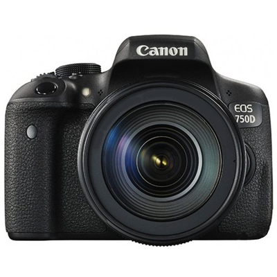 佳能(Canon) EOS 750D(18-55mm+55-250mm) 數碼單反相機 雙鏡頭套裝 約2420萬像素