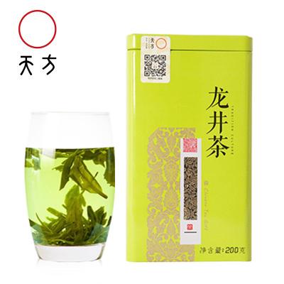 天方茶叶200g龙井绿茶春茶 雨前龙井春茶 越州产区 小罐装茶叶