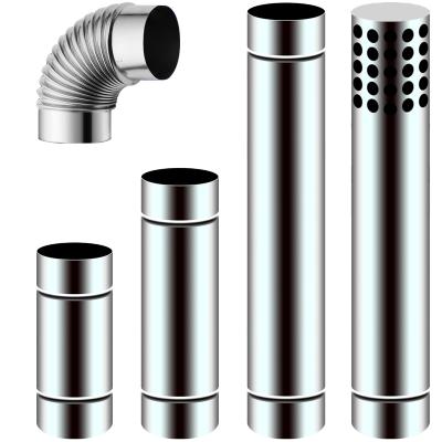 今安 直径70mm不锈钢排烟管7cm加长排气管强排式燃气热水器配件弯头延长管 直径70mm长度100cm直管