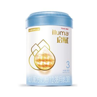 惠氏啟賦(Wyeth illuma)3段奶粉 愛爾蘭進口 12-36月幼兒配方 900克(罐裝)