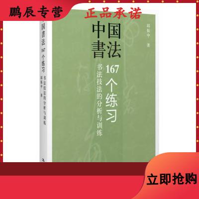 正版 邱振中一中國書法:167個練習 書法技法的分析與訓練邱振中毛筆鋼筆書寫技巧書法