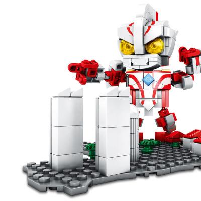 兒童積木拼插玩具奧特曼系列益智兒童拼插積木 奧特曼-夢比優斯奧特曼 積木玩具男孩玩具