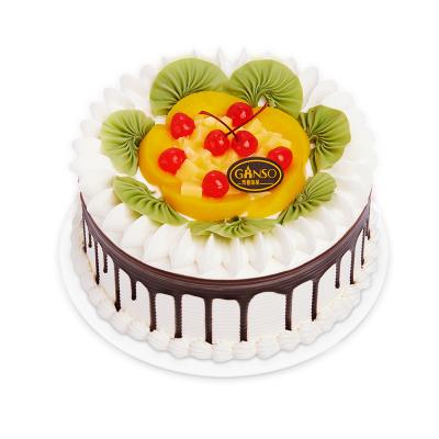 元祖 奶油水果蛋糕 水果之戀 生日蛋糕同城配送 蛋糕速遞 8號