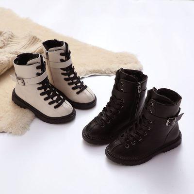 儿童马丁靴2019秋冬季新款男童棉鞋加绒大棉女童鞋子小女孩短靴子 莎丞