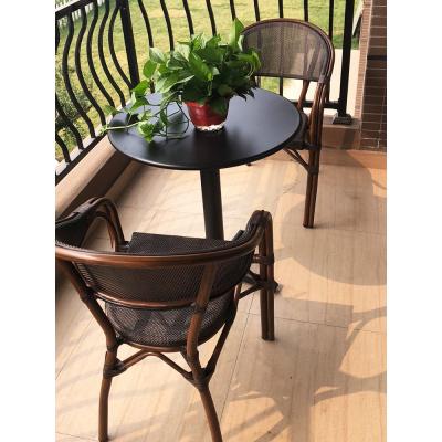藤印象阳台小桌椅户外庭院花园桌椅小茶几藤椅三件套创意休闲藤编桌椅